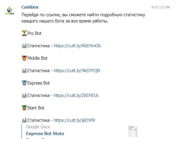 cashbox статистика
