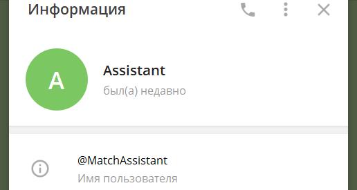 Администратор группы Match Assistant